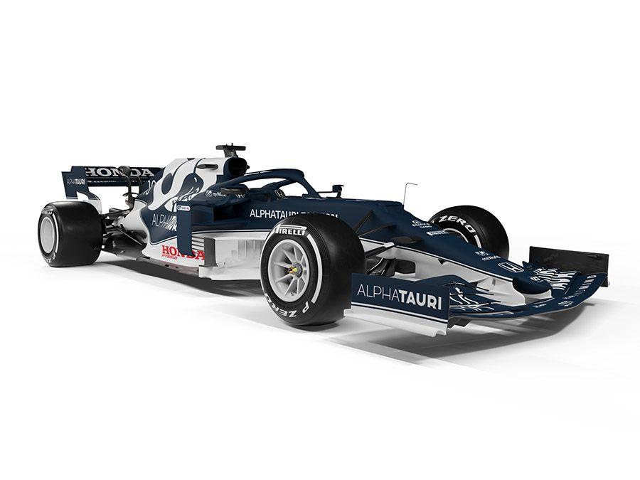 Além da adaptação ao novo regulamento, carro da AlphaTauri tem retoques na pintura (Foto: Red Bull Content)