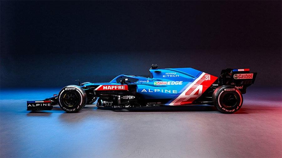 Alpine chega à F1 com pintura clássica que brilha