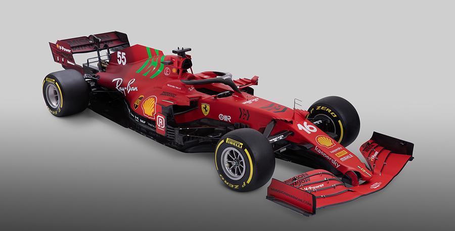 Nova Ferrari SF21 tem mudanças na pintura (Foto: Ferrari)