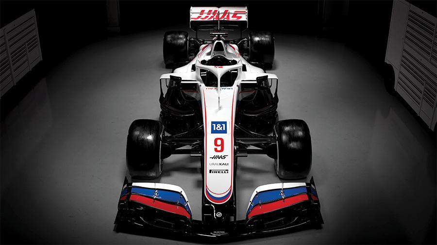 Haas carregará as cores da bandeira da Rússia em 2021 (Foto: Haas)