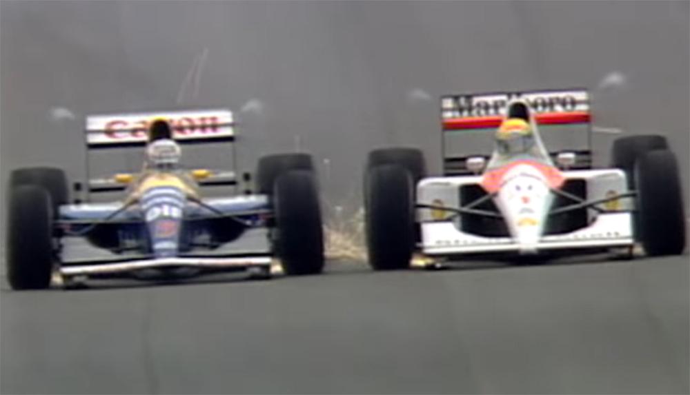 Mansell e Senna protagonizaram imagem histórica em Barcelona em 1991