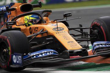 Suspensão da McLaren trabalhando com Norris passa pela zebra