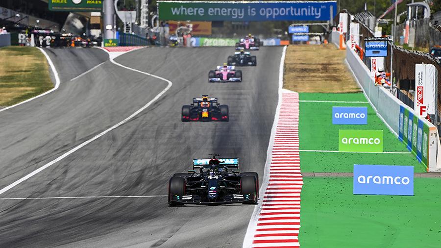 Hamilton comandou o ritmo do GP da Espanha
