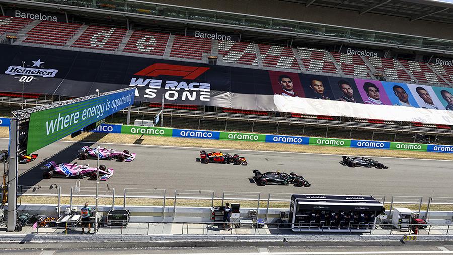 Bottas largou mal e comprometeu sua corrida na Espanha