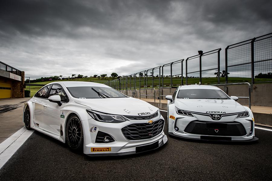 Os novos Cruze e Corolla da Stock Car