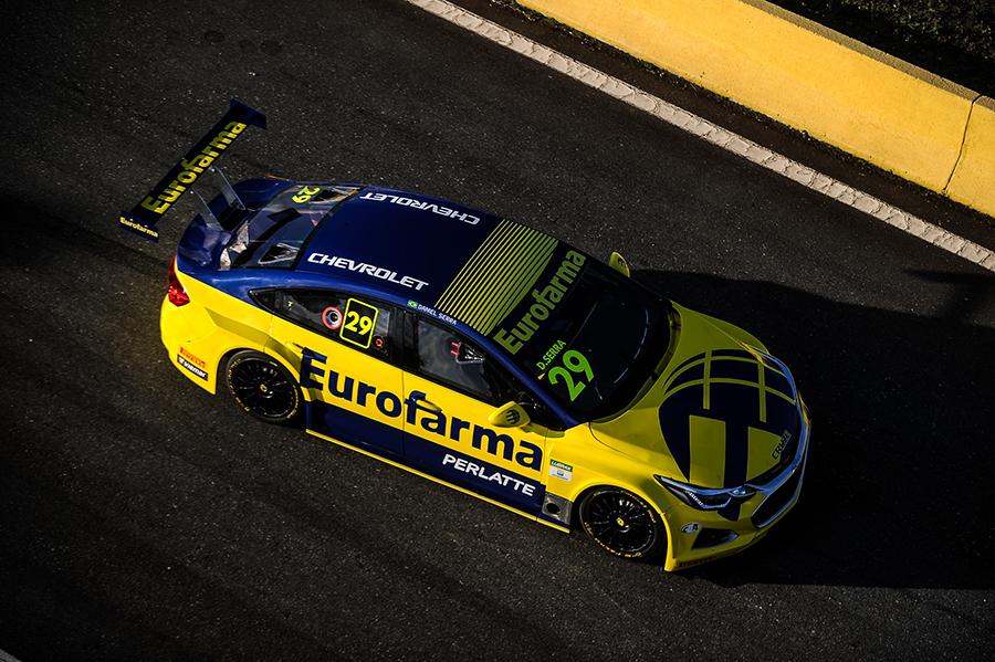 Chevrolet Cruze do atual tricampeão da Stock Car, Daniel Serra