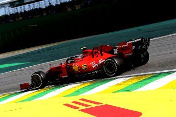 Leclerc, no GP do Brasil de 2019 com sua Ferrari