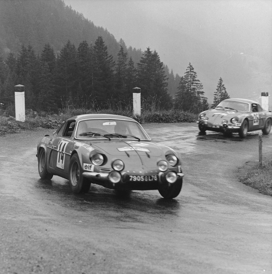 Alpine A110 de Jean Vinatier no Rallye Copa dos Alpes de 1969