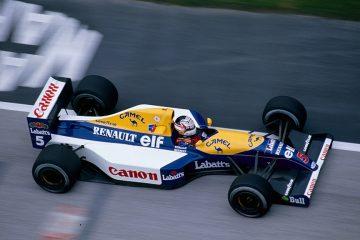 Mansell na Williams em 1991