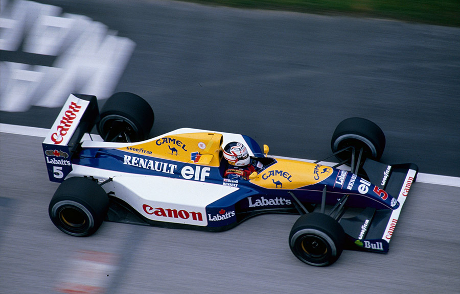 Mansell na Williams em 1991