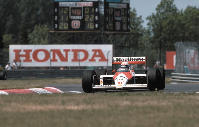 Prost com o McLaren MP4/4 de 1988