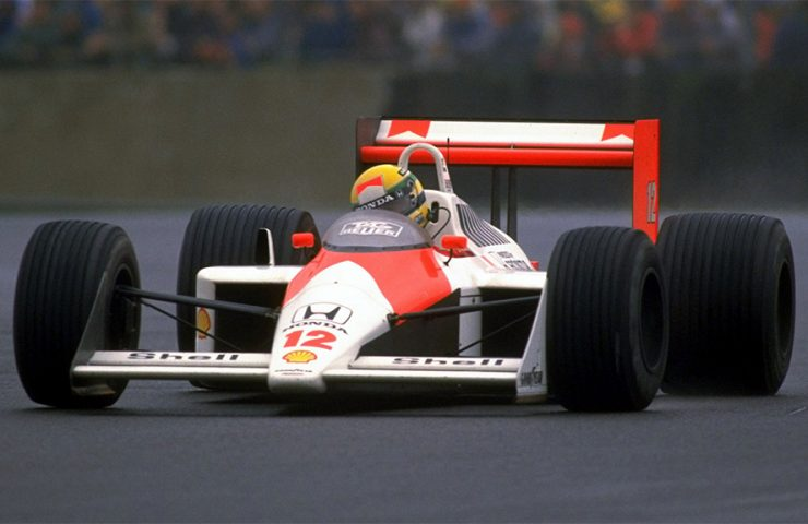 Senna no McLaren MP4/4 de 1988