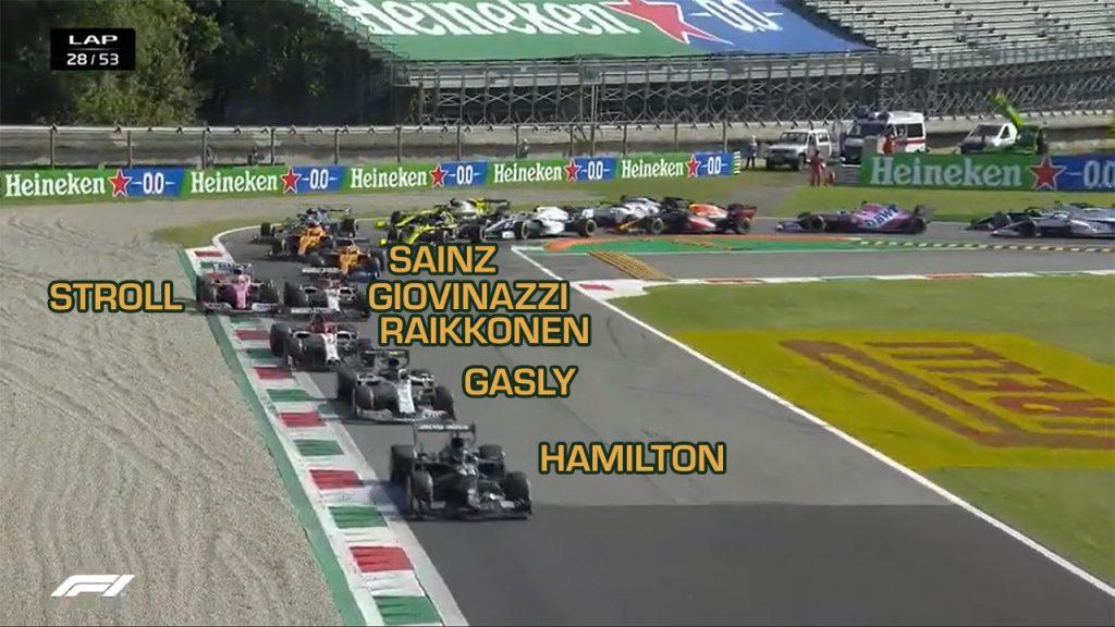 Atrás apenas de Hamilton, Gasly assume posição de vitória já na relargada após a bandeira vermelha