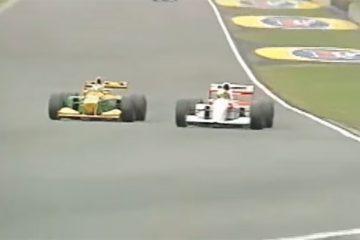 Schumacher, de Benetton, e Senna, de McLaren, lutaram bastante em 1993