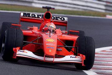 Michael Schumacher, com sua Ferrari de 2001