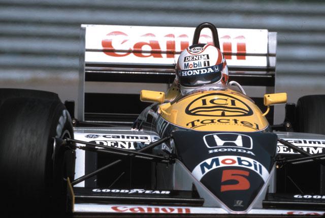 Nigel Mansell na FW11 em 1986