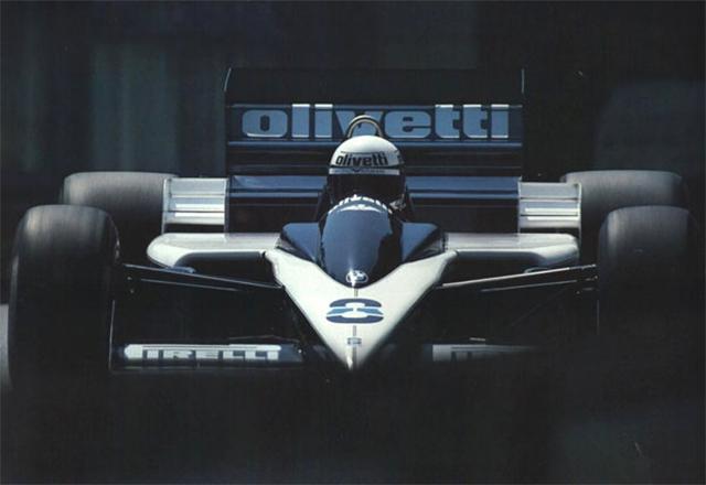 De Angelis com a Brabham, no GP de Mônaco de 1986