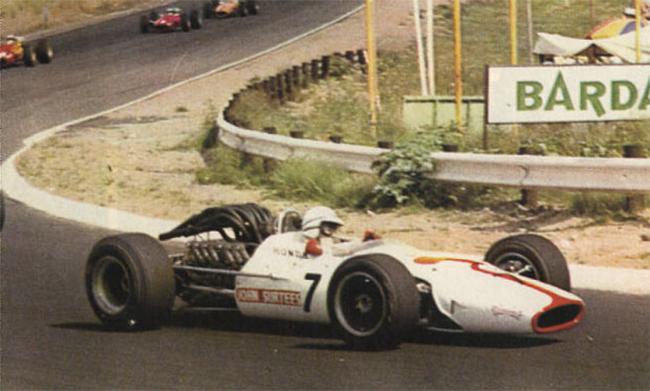 John Surtees, pela Honda, no GP da África do Sul realizado em 1º de janeiro de 1968