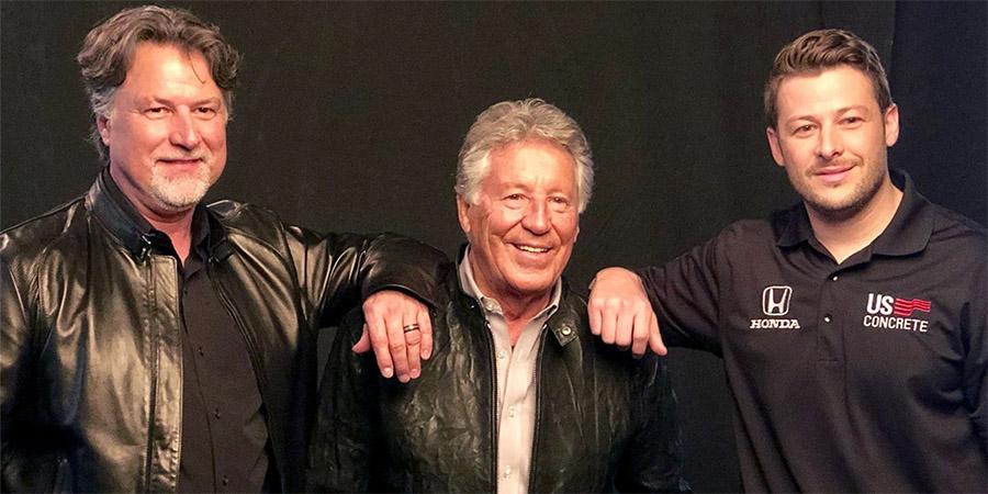 Michael, Mario e Marco Andretti: três gerações de pilotos da mesma família