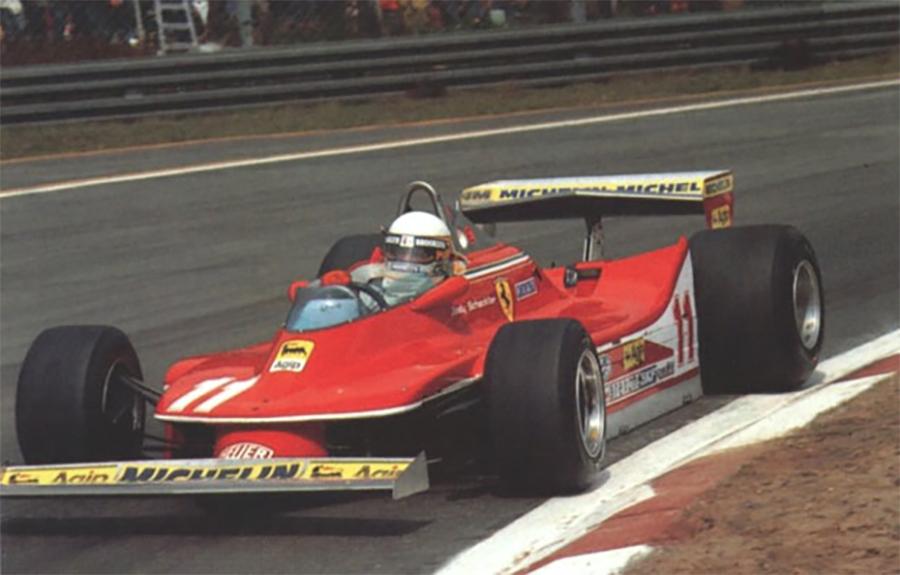 Jody Scheckter, com a Ferrari 312T4, em 1979