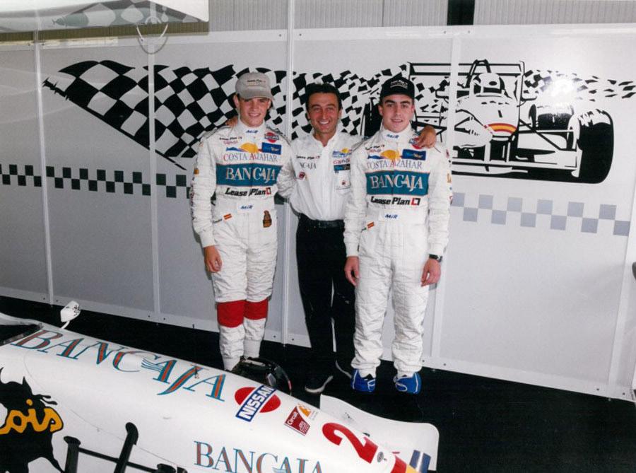 García, Campos e Alonso: o trio campeão de 1999 na Open Nissan