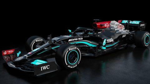 Imagem sobre Lançamentos da F1 2021 – Mercedes W12: pintura retocada e novidades no motor