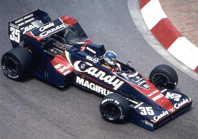 Derek Warwick, com a Toleman no GP da Mônaco de 1983