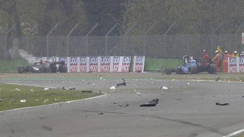Imagem sobre Sem culpados: entenda a dinâmica do acidente de Bottas e Russell em Imola