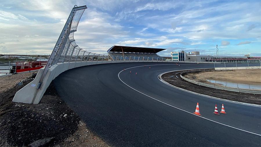Visão da nova curva 14 de Zandvoort