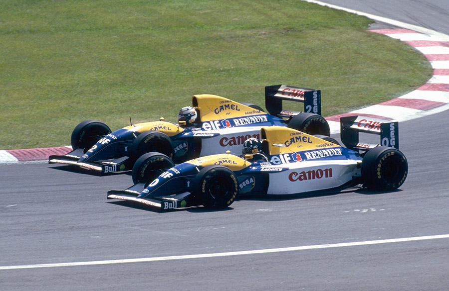 Damon Hill correu com o número 0 por duas temporadas na F1