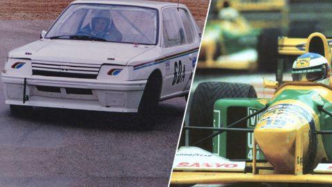 Imagem sobre O Peugeot 205 usado como mula para testar novidades da Benetton