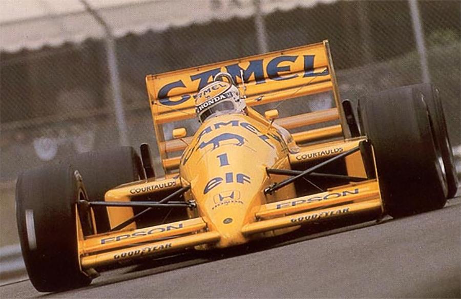 Nelson Piquet, pela Lotus, em 1988