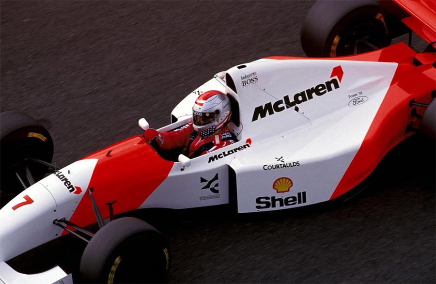 Michael Andretti, com a McLaren de 1993 na F1