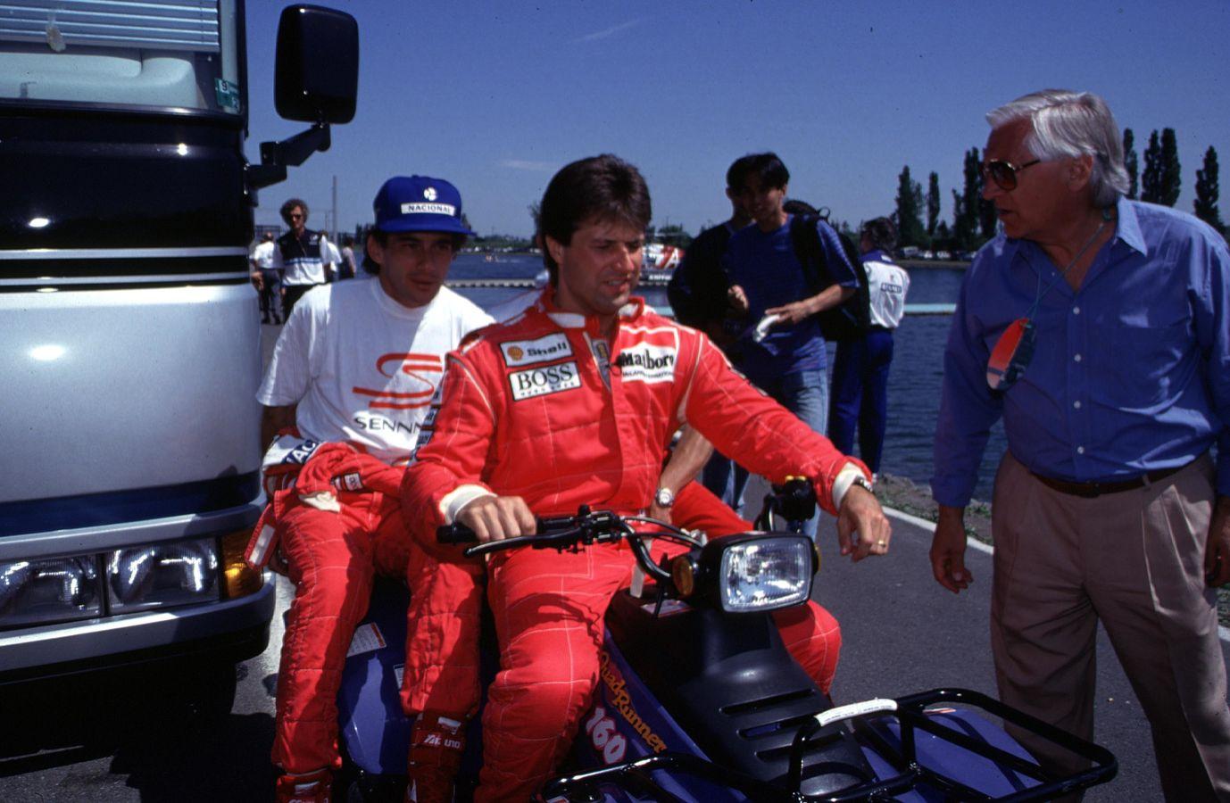 Senna e Andretti mantiveram uma boa relação enquanto companheiros na McLaren, em 1993