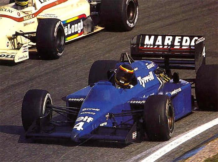 Após a confusão com o dinheiro desviado, Tyrrell correu com os motores Renault no final de 1985 e 86