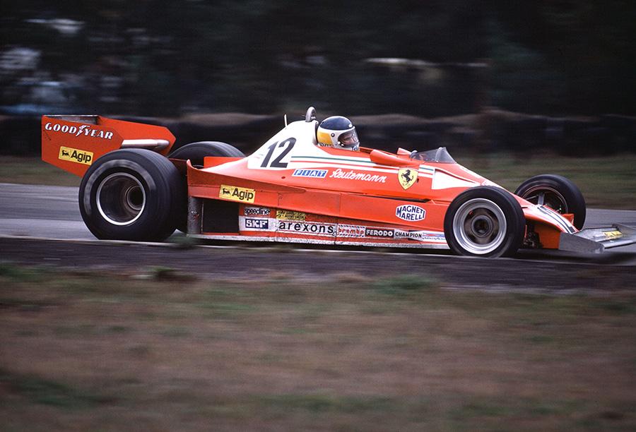 Carlos Reutemann correu por duas temporadas completas na Ferrari, conquistando cinco vitórias pela escuderia