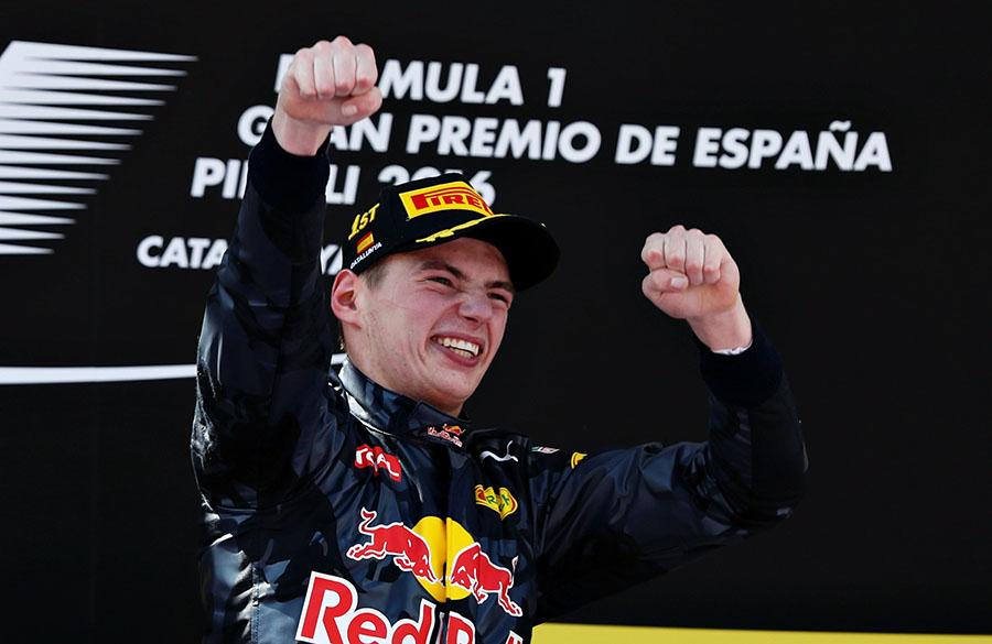 Max Verstappen conquistou sua primeira vitória aos 18 anos em 2016