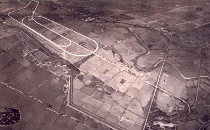 Primeira versão do circuito de Monza, da década de 20, com os traçados misto e oval e a Parabólica com raio mais constante