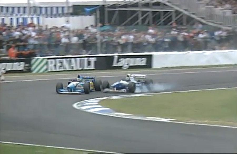 Em dois anos de briga pelo título da F1, Schumacher e Hill bateram três vezes