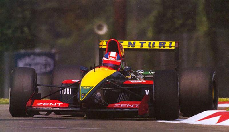 Por uma temporada, a Venturi chegou a ser proprietária majoritária da equipe Larrousse na F1, o que chegou a fazer o time correr com sua marca