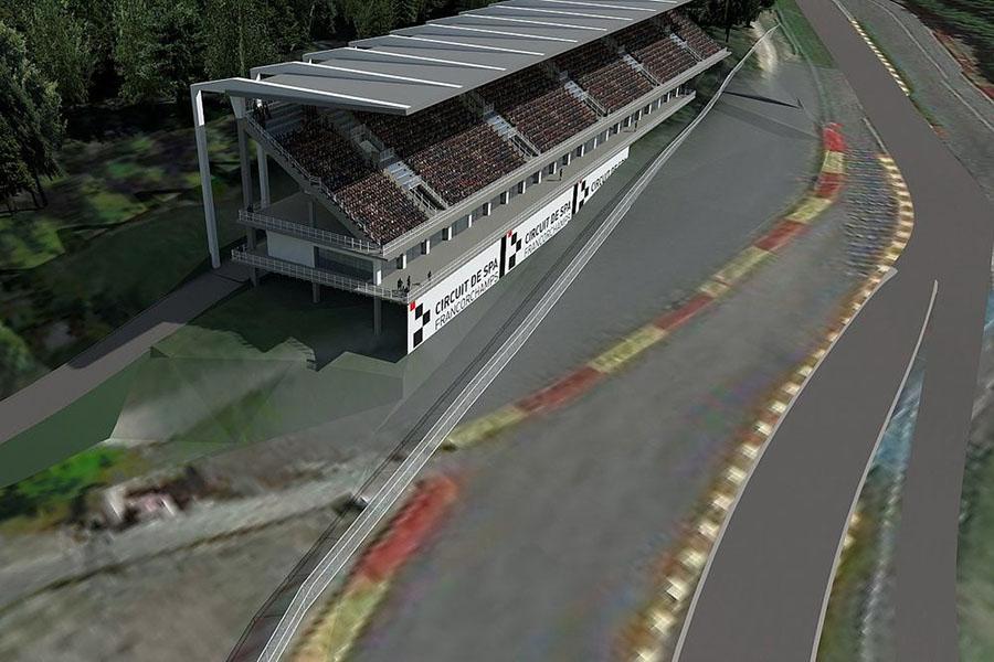 Mudanças previstas para o complexo Eau Rouge e Raidillon apresentadas pela administração do autódromo para 2022
